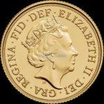 1/2 Sovereign Goldmünzen Rückseite 2017