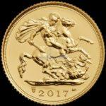 1/2 Sovereign Goldmünzen Vorderseite 2017
