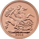 1/2 Sovereign Goldmünzen Vorderseite 2018