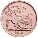 1/2 Sovereign Goldmünzen Vorderseite 2019
