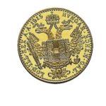 1 Dukat Oesterreich Goldmünzen Rückseite