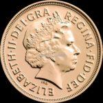 1 Sovereign Goldmünzen Rückseite 2015