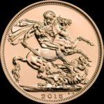 1 Sovereign Goldmünzen Vorderseite 2015