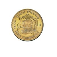 100 Pesos Chile Goldmünze Rückseite