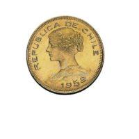 100 Pesos Chile Goldmünze Vorderseite
