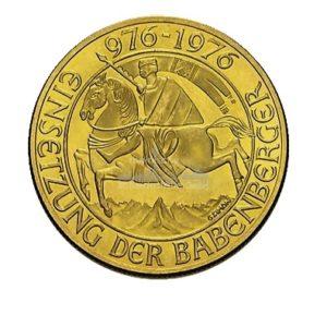 1000 Schilling Oesterreich Goldmünzen Vorderseite