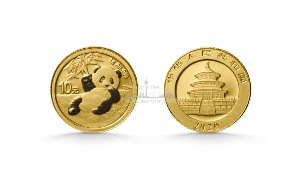 1G China Panda Goldmünze 2020