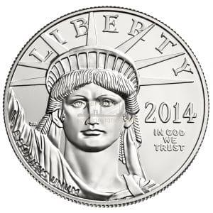 1 Unze American Eagle Platinmünzen Vorderseite