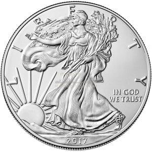 1 Unze American Eagle Silbermünzen Vorderseite