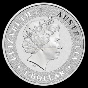 1 Unze Australian Kangaroo Silbermünzen Rückseite 2017