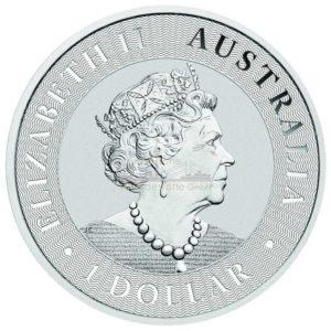 1 Unze Australian Kangaroo Silbermünzen Rückseite