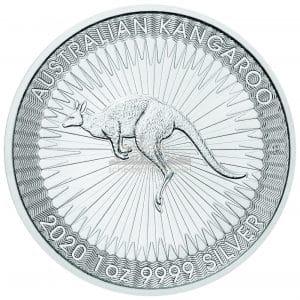 1 Unze Australian Kangaroo Silbermünzen Vorderseite