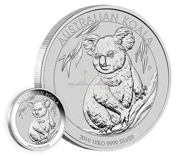 1 Unze Australian Koala Silbermünzen