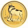 1 Unze Australian Lunar 1 Ochse Goldmünzen
