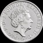 1 Unze Britannia Silbermünzen Rückseite 2018