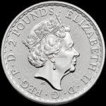 1 Unze Britannia Silbermünzen Rückseite 2019