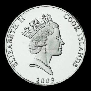 1 Unze Cook Islands Platinmünzen Rückseite