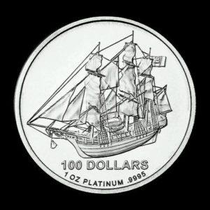 1 Unze Cook Islands Platinmünzen Vorderseite
