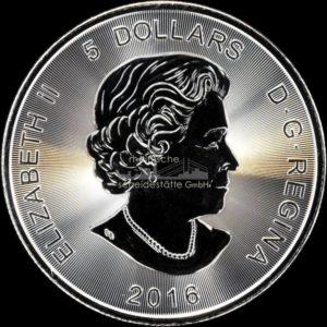 1 Unze Kanada Wildlife Puma Silbermünzen Rückseite