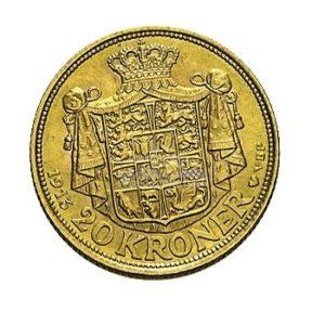 20 Kronen Daenemark Goldmünzen Rückseite