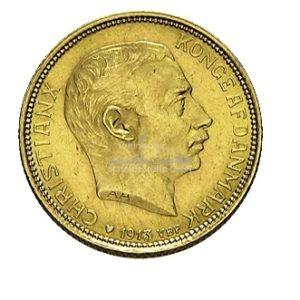 20 Kronen Daenemark Goldmünzen Vorderseite