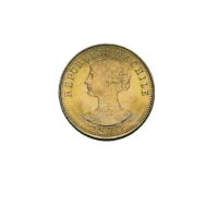 50 Pesos Chile Goldmünzen Vorderseite