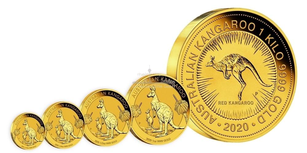 Australian Kangaroo Goldmünzen