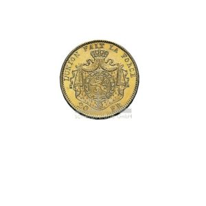 Franc Belgien Leopold Goldmünzen Rückseite