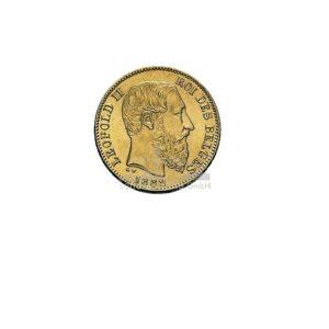 Franc Belgien Leopold Goldmünzen Vorderseite
