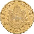 Francs Frankreich Napoleon Goldmünzen Rückseite