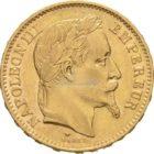 Francs Frankreich Napoleon Goldmünzen Vorderseite