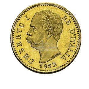 Lire Umberto Italien Goldmünzen Vorderseite