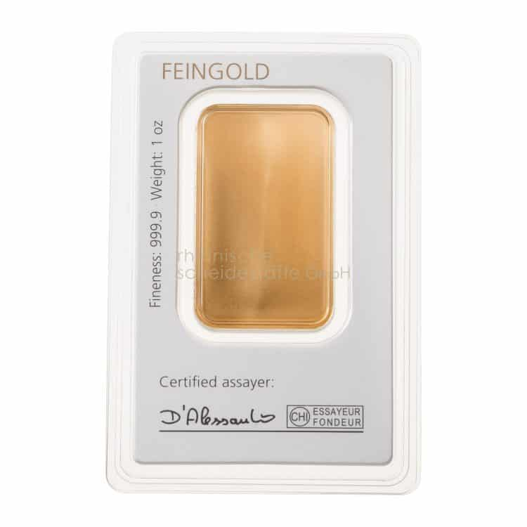 Feingold 1 oz Goldbarren
