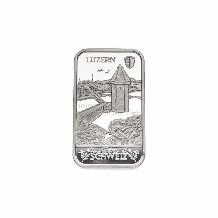 1 Unze Silberbarren Luzern