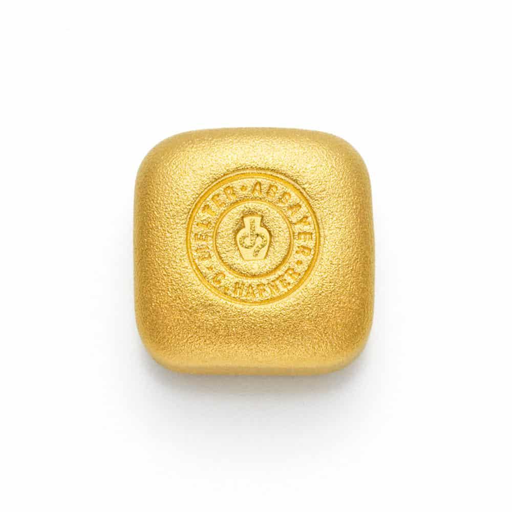 1 Unze Gold Goldbarren Rückseite