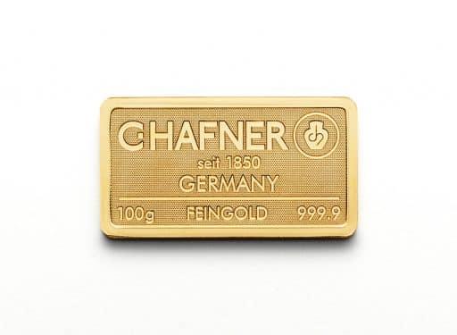 Gold Bullion C.HAFNER 100g