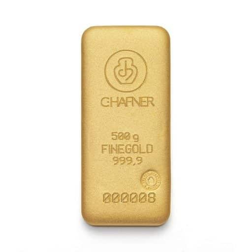 500g Goldbarren C.HAFNER