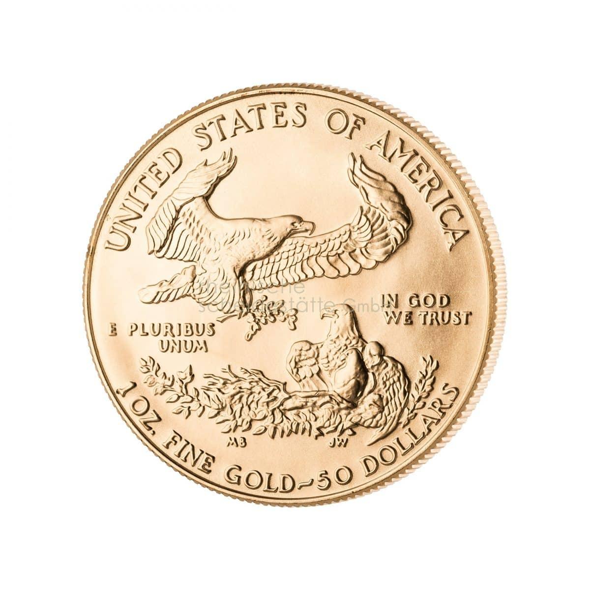 American Eagle Gold Goldmünzen Vorderseite