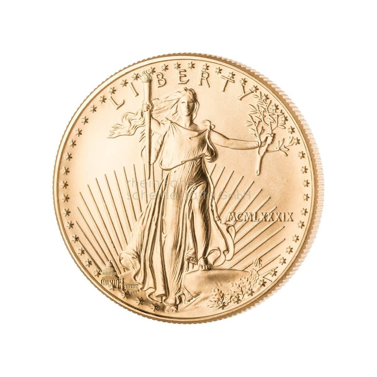 American Eagle Gold Goldmünzen Rückseite