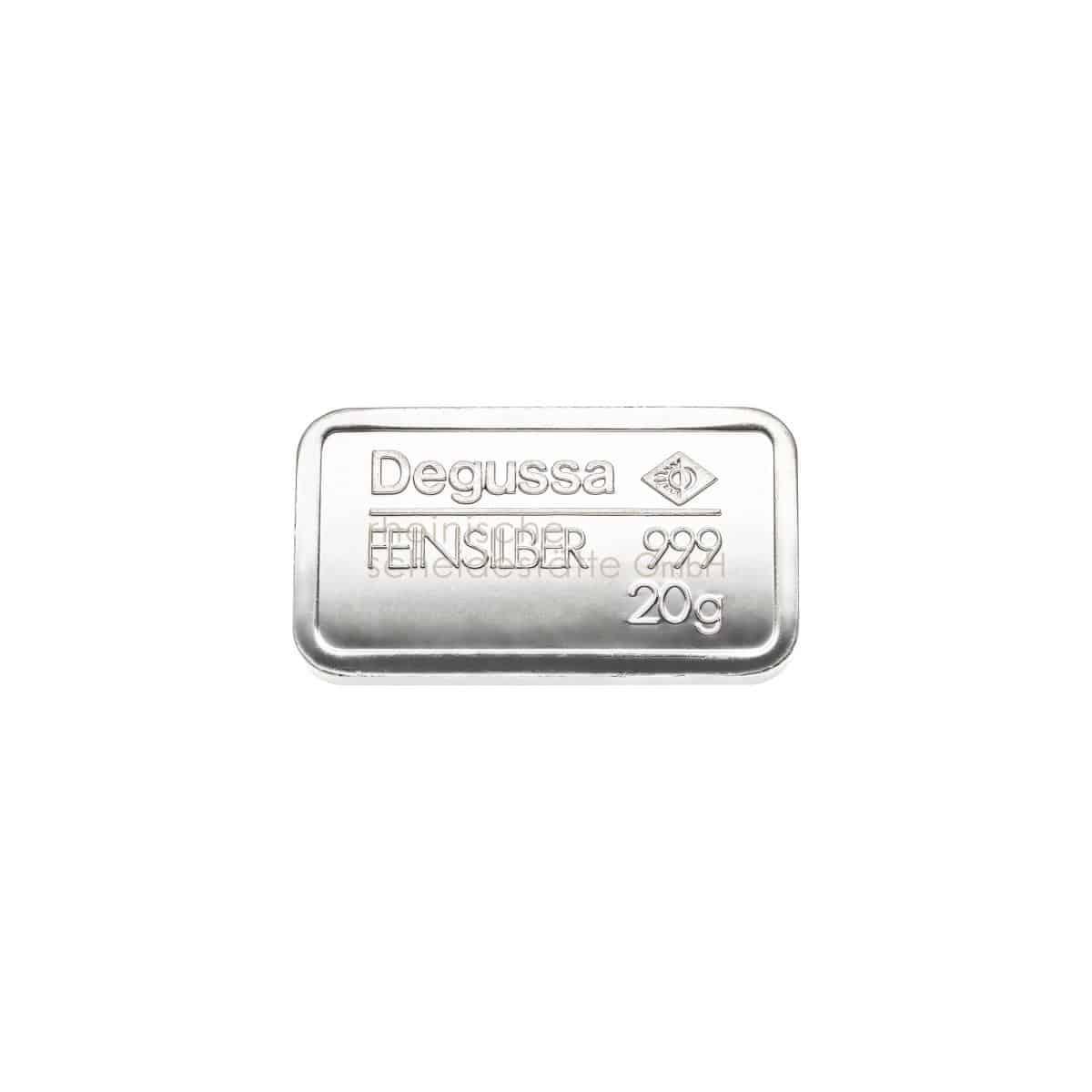 20 Gramm Silber Silberbarren Vorderseite