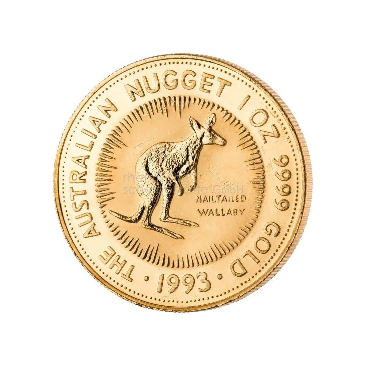 Australian Kangaroo Gold Goldmünzen Vorderseite