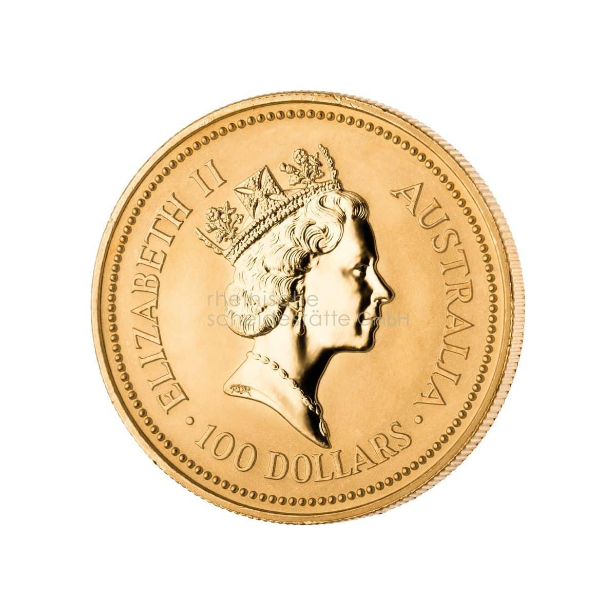 Australian Kangaroo Gold Goldmünzen Rückseite
