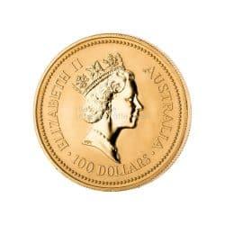 1 Unze Australian Kangaroo Goldmünze mit Elizabeth II.