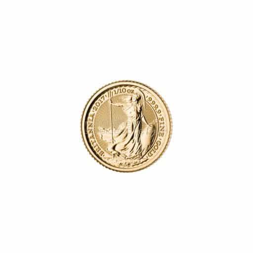 1/10 Unze Britannia Goldmünze 2017