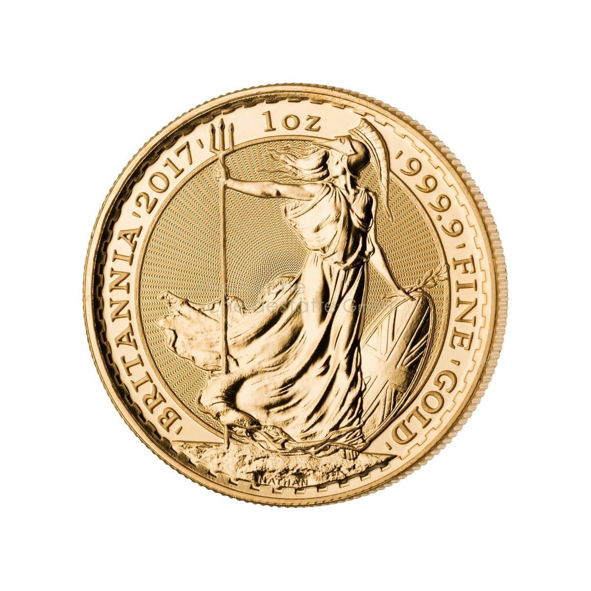 Britannia Gold Goldmünzen Vorderseite