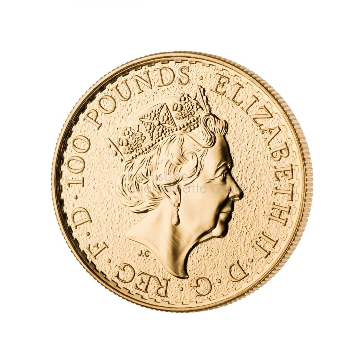 Britannia Gold Goldmünzen Rückseite