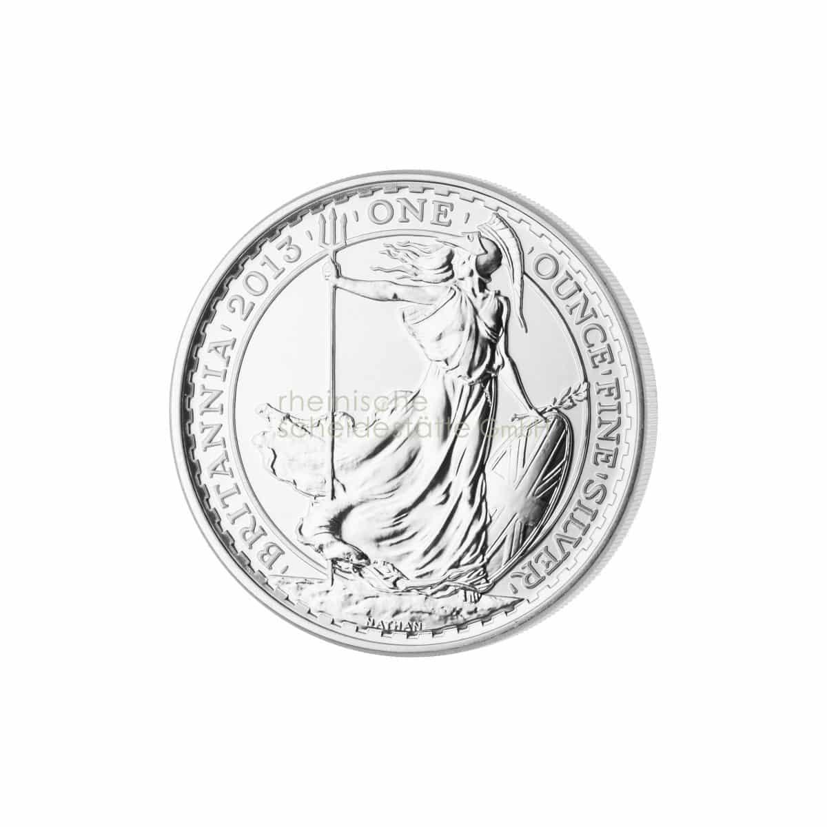 Britannia Silber Silbermünzen Vorderseite
