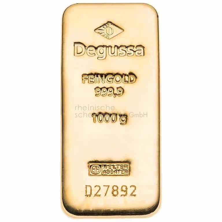 1 kg Gold Goldbarren Vorderseite