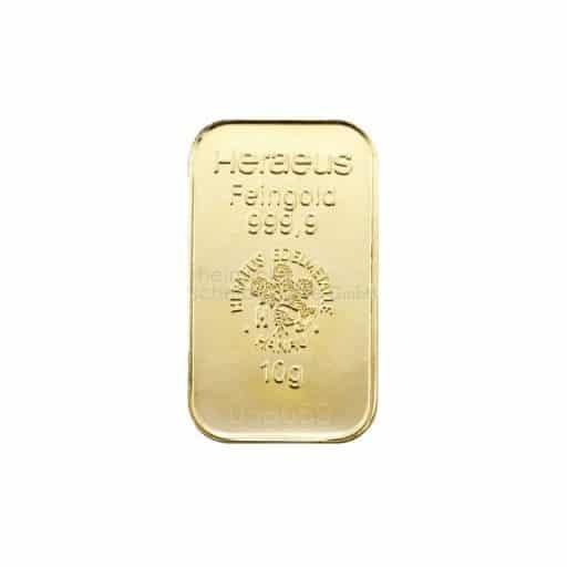 10g Goldbarren Heraeus Feingold