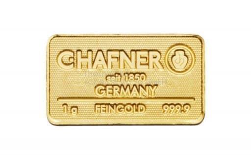 1 g Goldbarren C.HAFNER